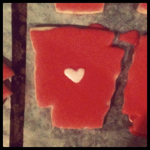 arkansas state cookie instagram, iced arkansas