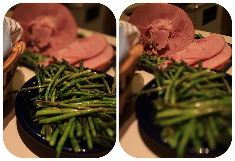 roasted asparagus, ham, thanksgiving menu, thanksgiving dinner, family dinner, big dinner ideas, easter dinner, christmas dinner, vegetables