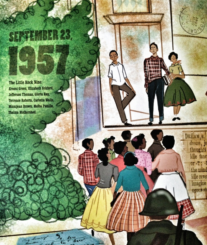 let freedom sing, vanessa newton, civil rights children's books, black history month, little rock nine