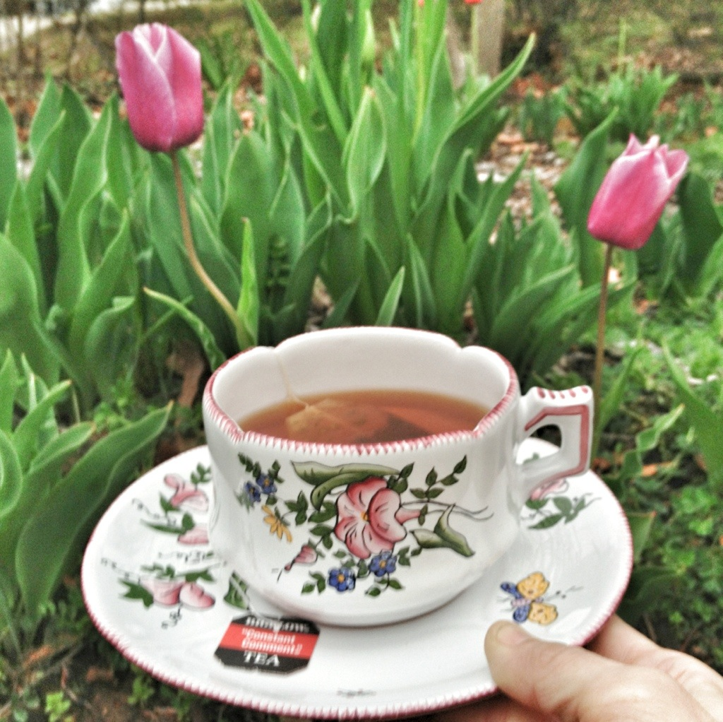 Works On A Cloudy Day: A Cup Of Tea With A Side Of Prayer