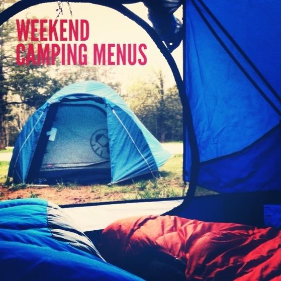 camping menus, camp food, camping with kids