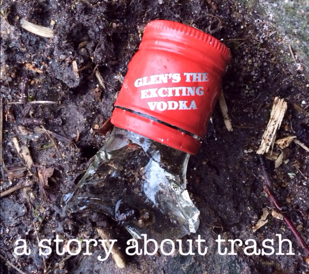 A Story about Trash, Walking in the Dark, rubbish