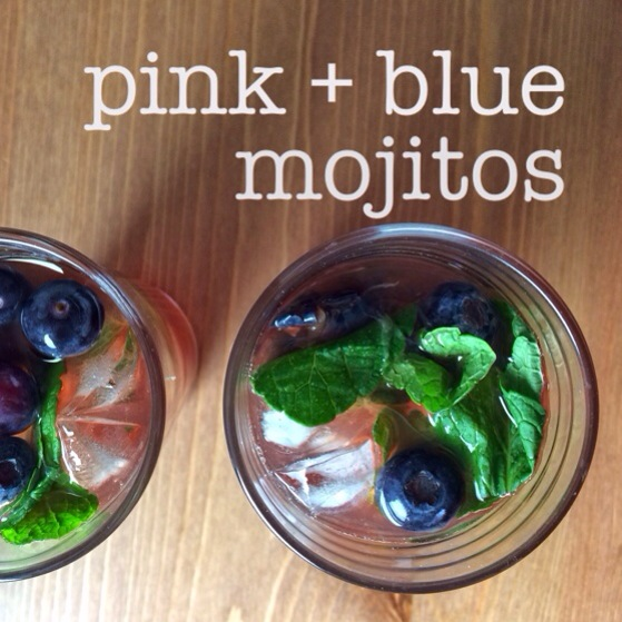 Pink + Blue Mojitos, Party Drinks, Drink Recipes