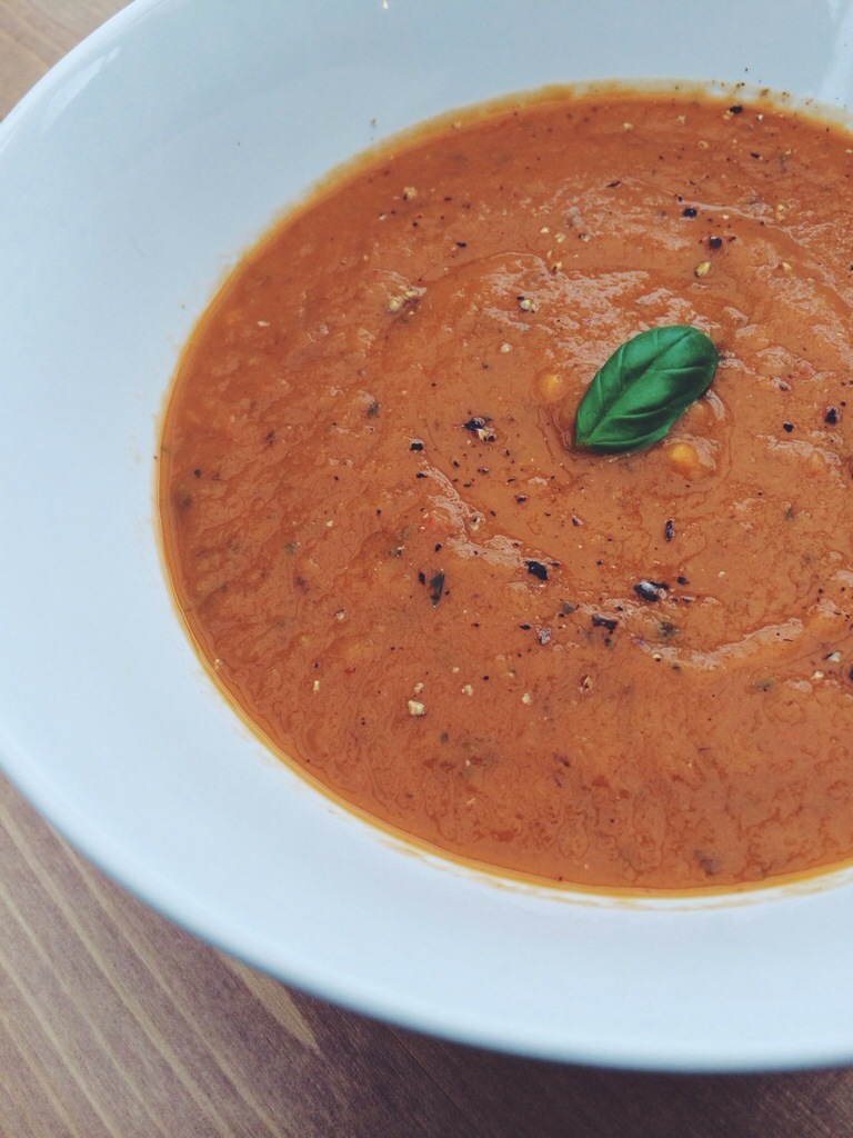 Spicy Roasted Eggplant Soup - Alison Chino