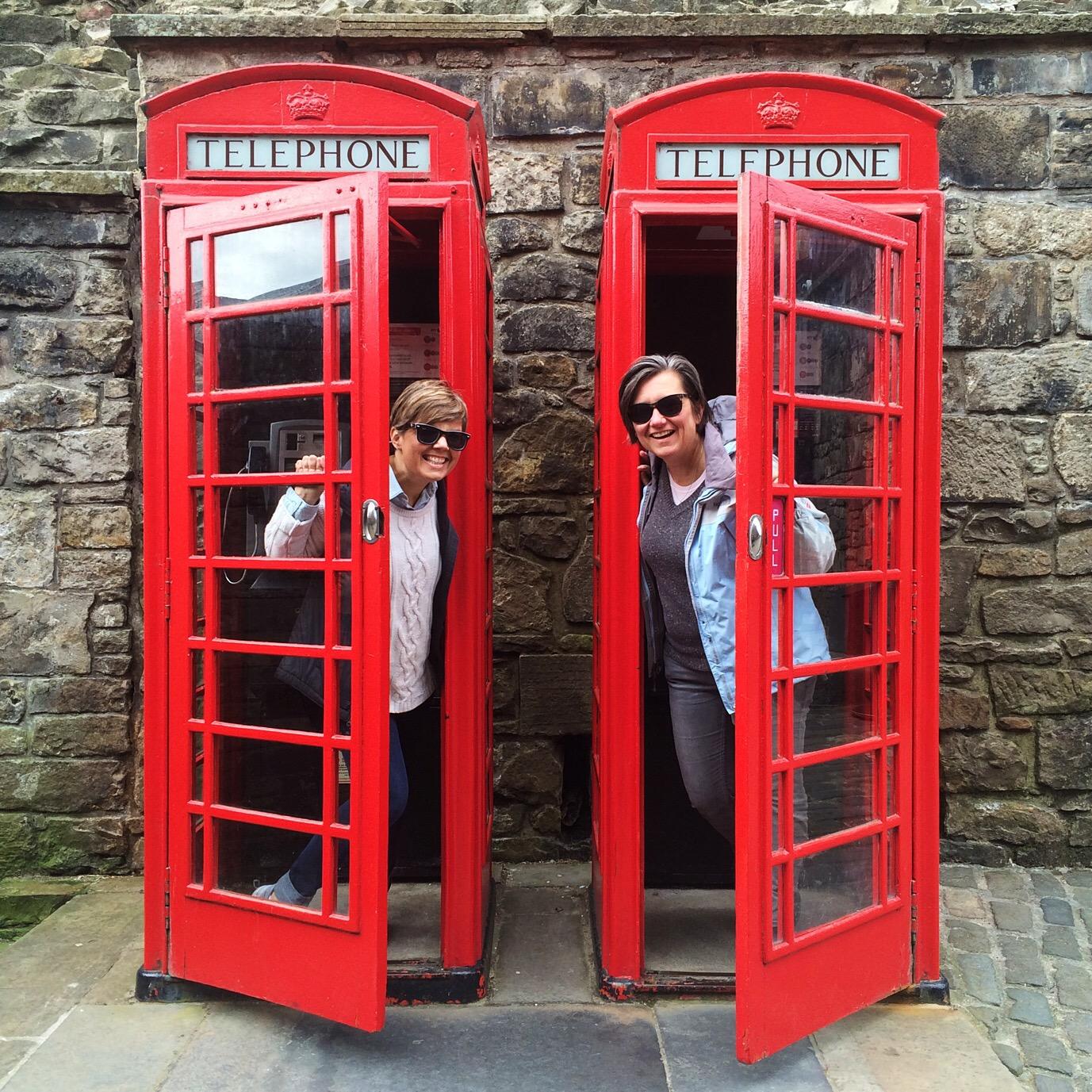 Visiting Edinburgh, Red Phone Booths, UK, Scotland