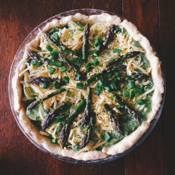 Asparagus, Potato and Ricotta Pie, Breakfast, Quiche, Vegetarian