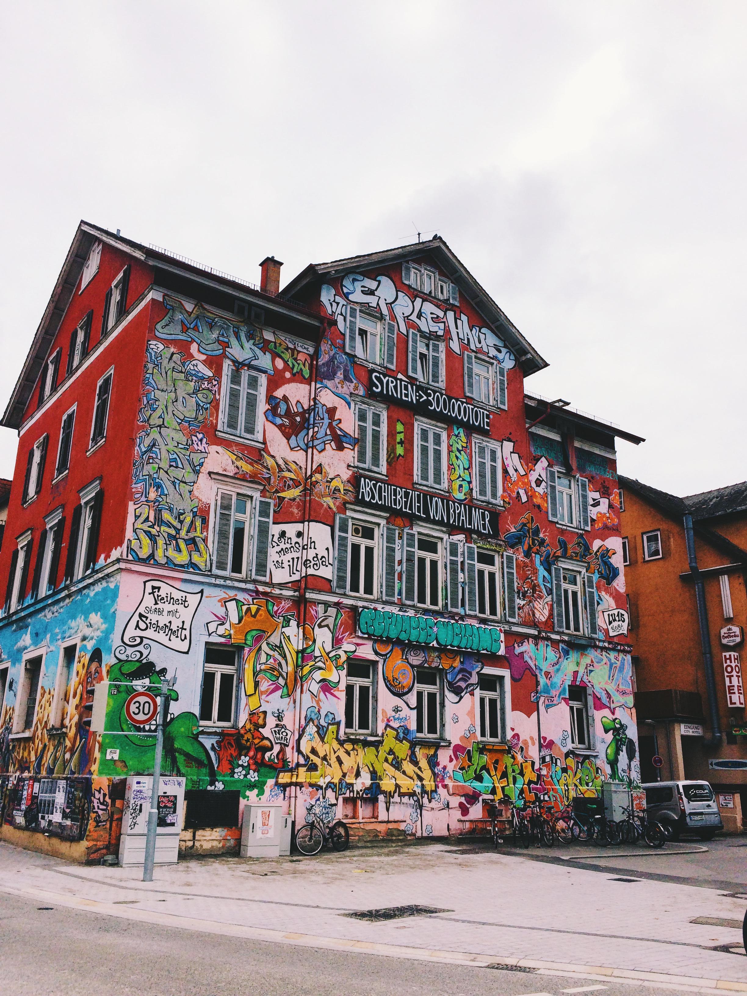 Tubingen, Refugees Welcome, Street Art, Germany, Graffiti